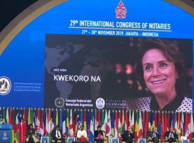 Cristina Armella es la nueva presidenta de la Unión Internacional del Notariado