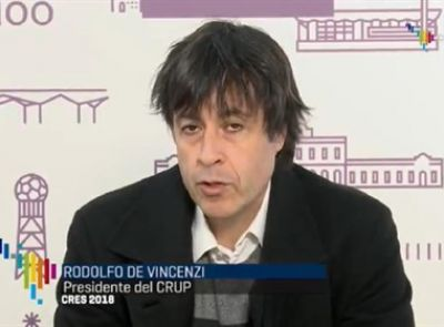 La organización de la CRES entrevistó a De Vincenzi