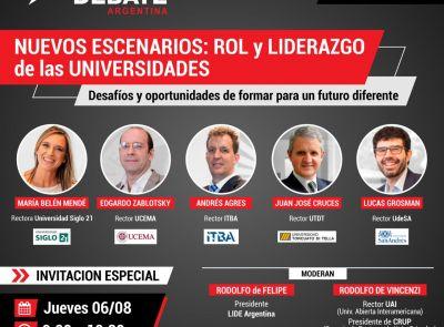 Rol y liderazgo de las universidades: Desafíos y oportunidades de formar para un futuro diferente